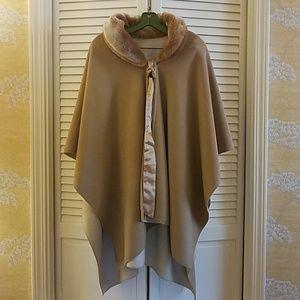 Reversable faux fur and fleece Winter Cape